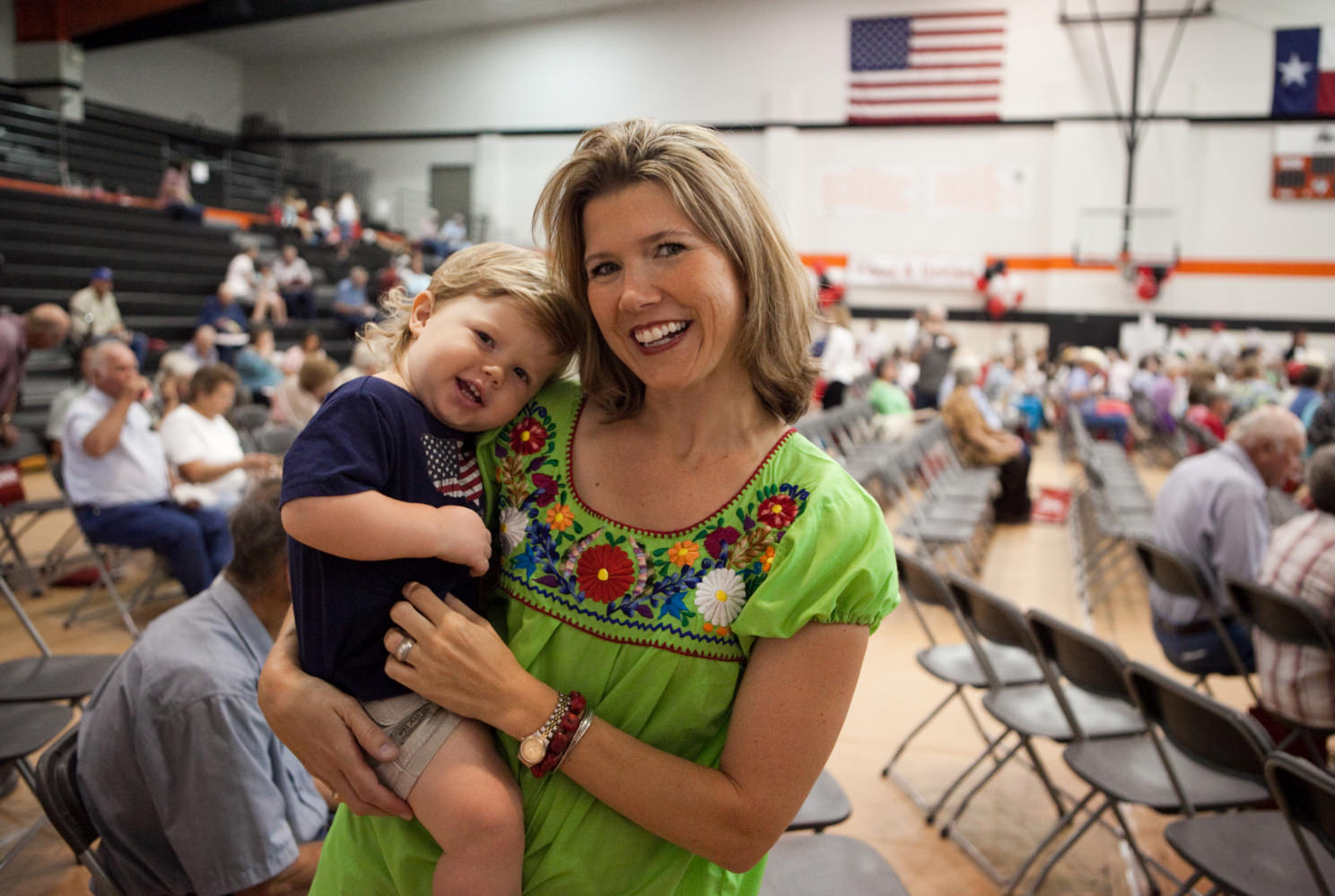 Lady with Child at Annual Meeting