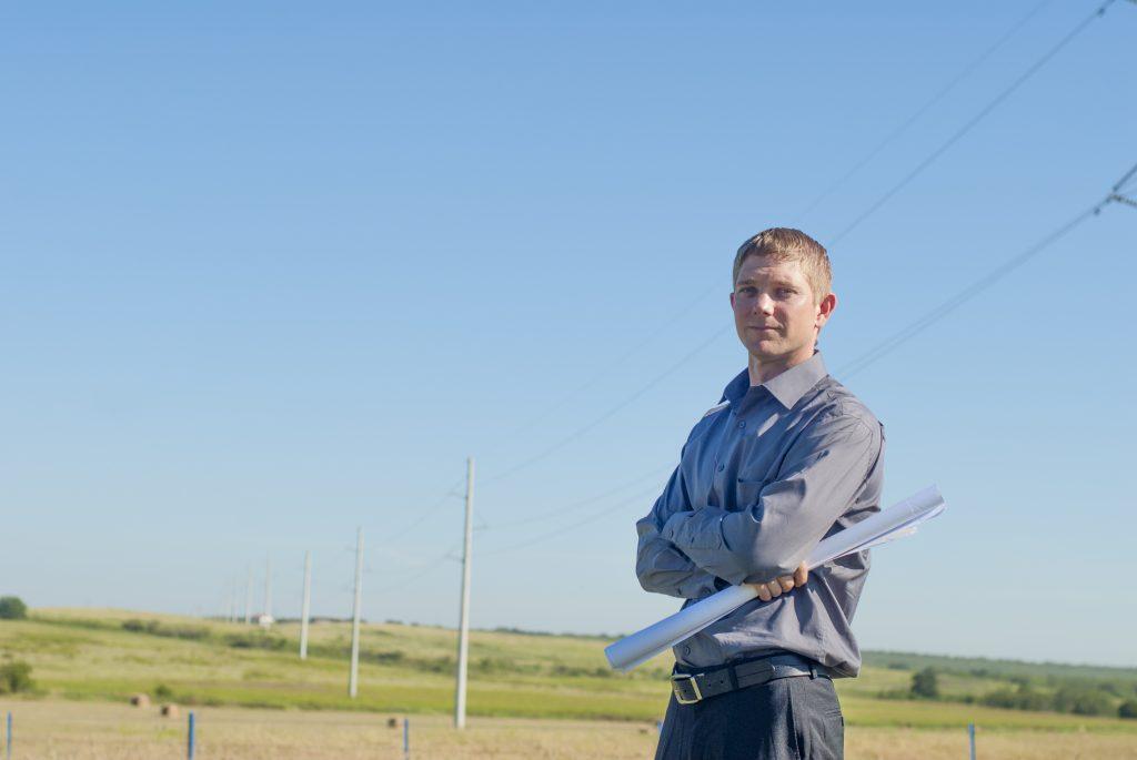 Engineer in field