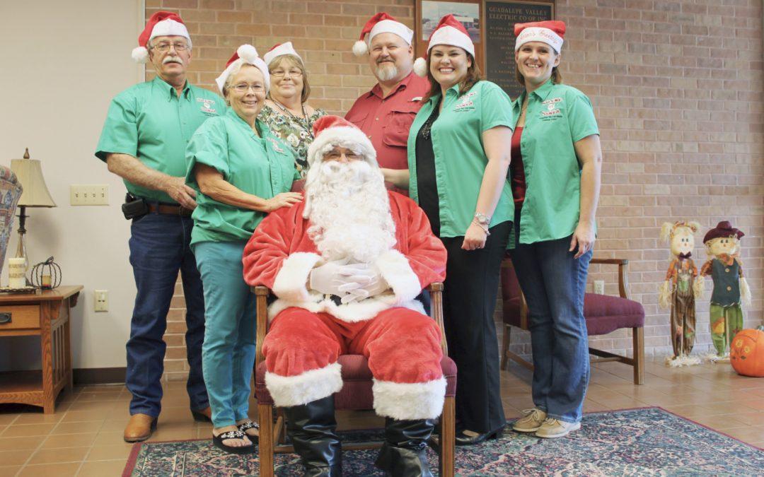 Silent Santa of Gonzales County Santa Suits
