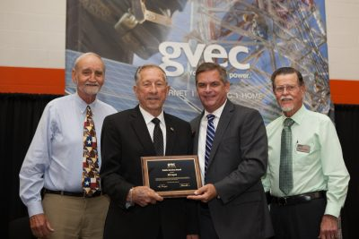 Bill Lopez is Presented with GVEC Public Service Award 2017