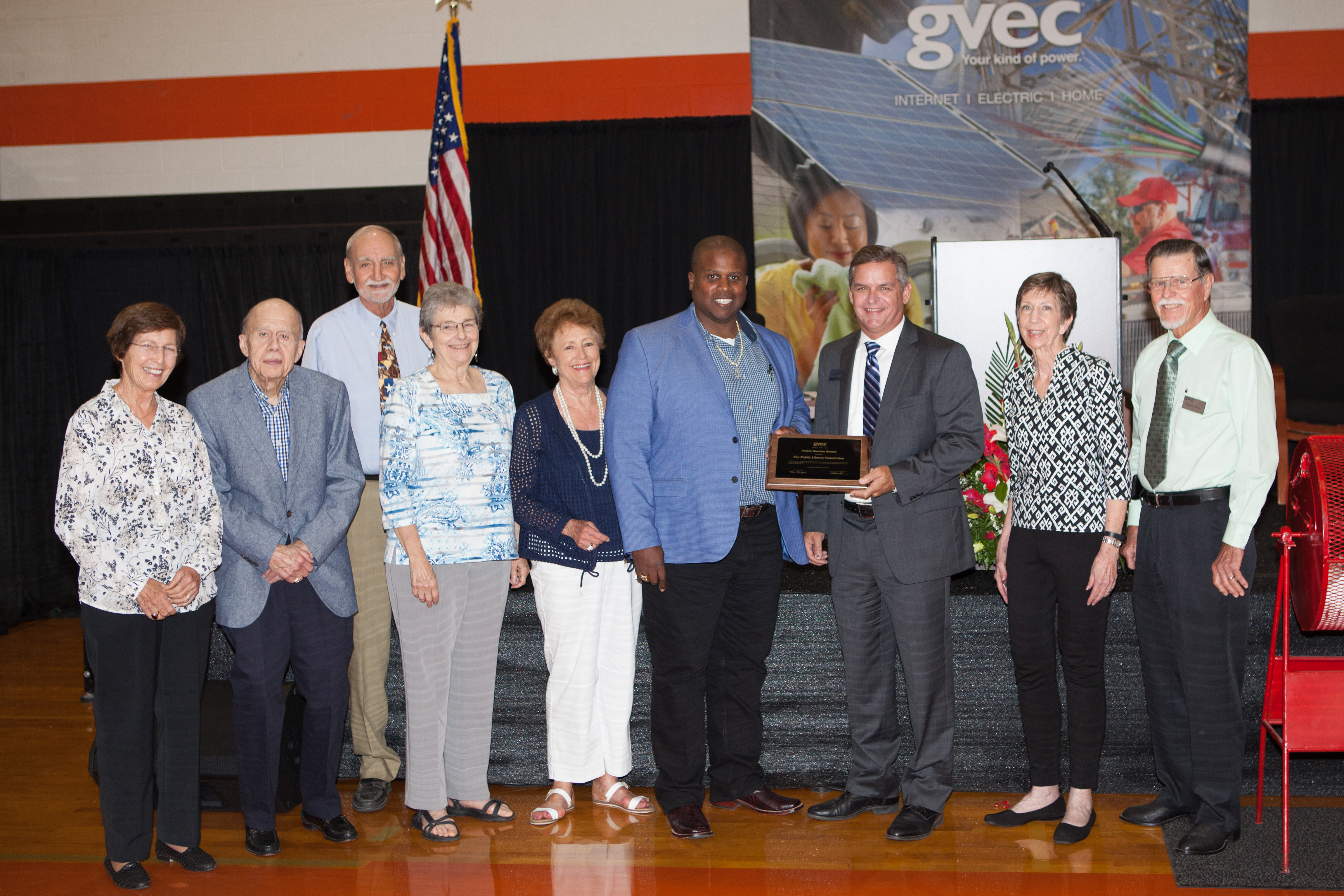 The Public Library Foundation Seguin is Presented with GVEC Public Service Award 2017