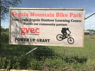 Seguin Mountain Bike Park Entrance Sign