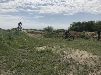 Riding the Power Up trail