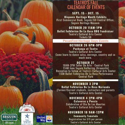 Teatro Fall Calendar