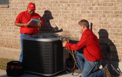 GVEC Technicians Perform a GVEC Check-N-Save HVAC Maintenance Check