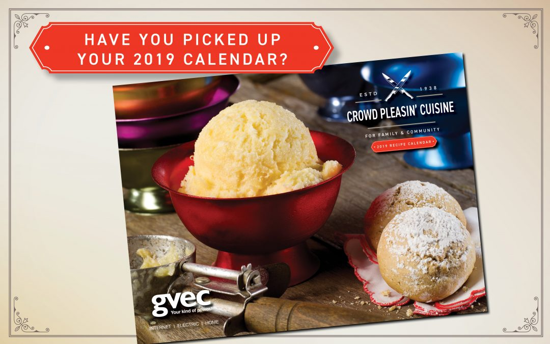 Free 2019 GVEC Recipe Calendars Now Available