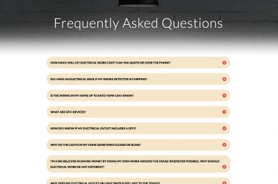 Screenshot of GVEC Electrician Website FAQs, GVEC Electrician Services, gvecELECTRICIANservice.com.jpg