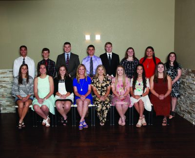 Group photo of a group of winners of GVEC high school scholarships