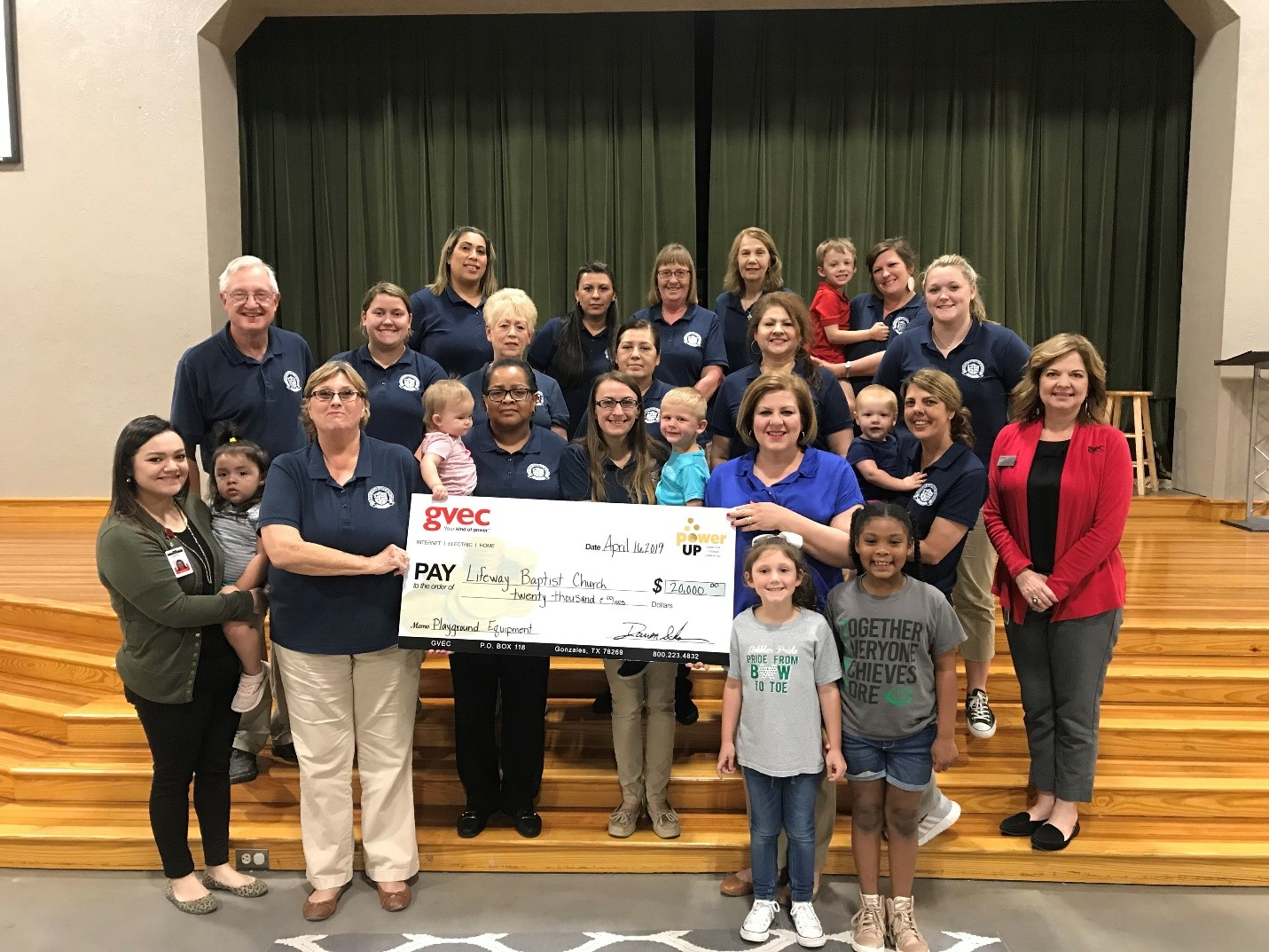 Lifeway Baptist Church School accepts Power Up grant for $20,000.