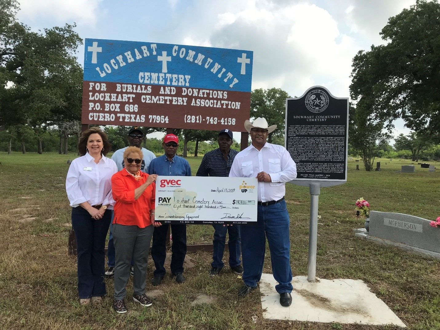 Lockhart Cemetery Association accepts Power Up grant for $8,800.