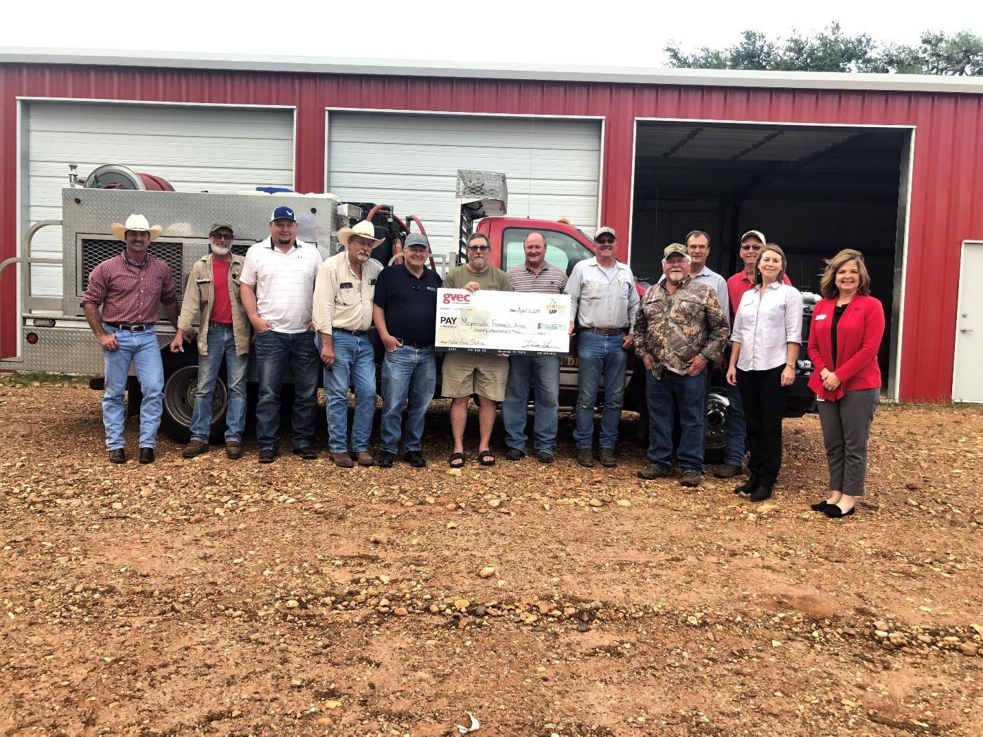 Meyersville Fireman's Association accepts Power Up Grant for $20,000.