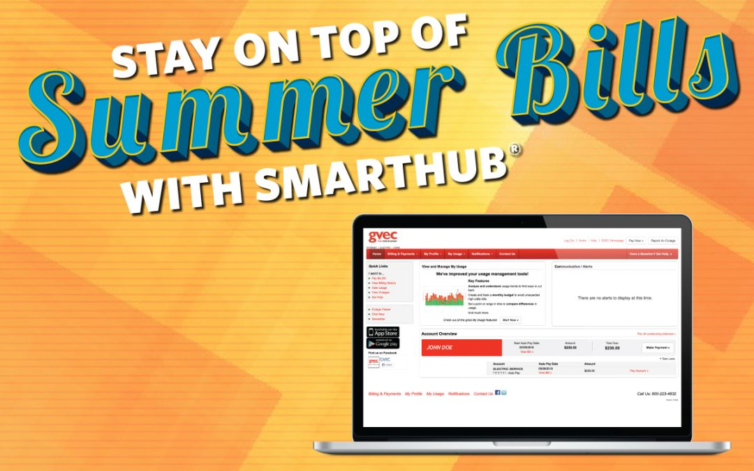 The SmartHub® App Helps You Stay on Top of Summer Bills