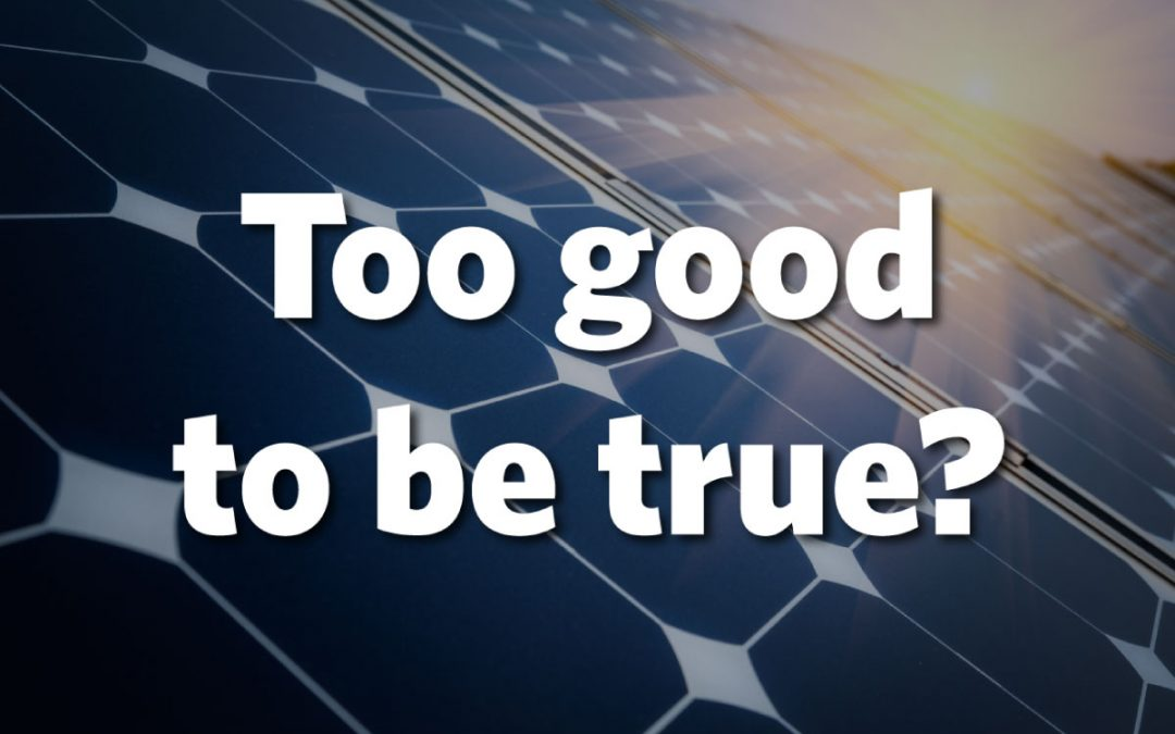 To Good to be True: Helping Solar Shoppers Spot Marketing Myths