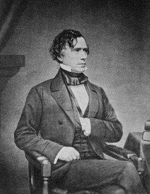 U.S. President Franklin Pierce, history of Christmas lighting, Christmastime lighting